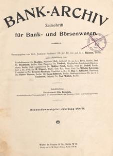 Bank-Archiv. Zeitschrift für Bank- und Börsenwesen, 1930.09.15 nr 24