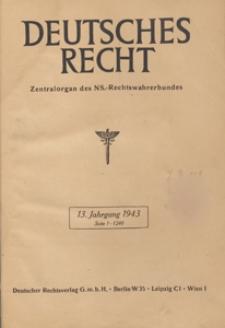 Deutsches Recht Ausgabe A : Zentralorgan des National-Sozialistischen Rechtswahrerbundes, 1943.04.17/24 H. 16/17