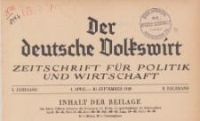 Beilage zu No. 41 Der deutsche Volkswirt, 1929.07.12