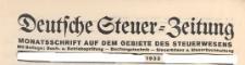 Deutsche Steuer Zeitung : Älteste Monatsschrift auf dem Gebiete des Steuerwesens, 1933 nr 11