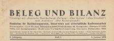 Beleg und Bilanz : Wochenschr. für Buchhaltungspraxis, Steuerwesen u. wirtschaftl. Kaufmannsarbeit, 1931.01.20 H. 3