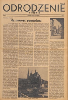 Odrodzenie : tygodnik, 1945.07.08 nr 32