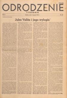 Odrodzenie : tygodnik, 1945.08.26 nr 39