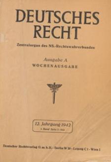 Deutsches Recht. Wochenausgabe : Zentralorgan des National-Sozialistischen Rechtswahrerbundes. Bd. 1,1942.01.24 H.4