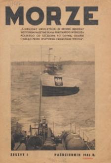 Morze : organ Ligi Morskiej, 1945.10 nr 1