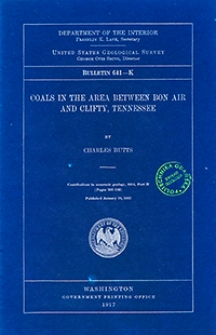 Bulletin 641-K. Coals in the area between Bon Air and Clifty, Tennessee
