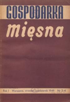Gospodarka Mięsna, 1949.09-10 nr 3-4