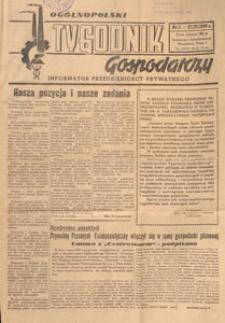 Ogólnopolski Tygodnik Gospodarczy : informator przedsiębiorcy prywatnego, 1949.03.27 nr 1