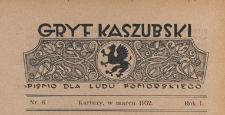 Gryf Kaszubski : pismo dla ludu pomorskiego, 1932.03 nr 6