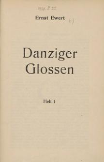 Danziger Glossen. H. 1