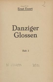 Danziger Glossen. H. 3