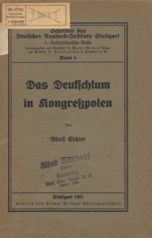 Das Deutschtum in Kongresspolen