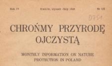 Chrońmy Przyrodę Ojczystą : tymczasowy organ Państwowej Rady Ochrony Przyrody, 1948.01-02 nr 1/2