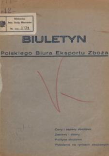 Biuletyn Polskiego Biura Eksportu Zboża, 1934