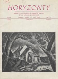Horyzonty : miesięcznik poświęcony sprawom kultury, 1947.06-08 nr 3-5
