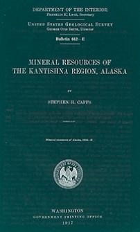 Bulletin 662-E. Mineral resources of The Kantishna Region, Alaska