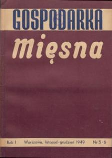 Gospodarka Mięsna, 1949.11-12 nr 5-6