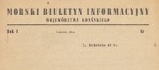 Morski Biuletyn Informacyjny Województwa Gdańskiego, 1946.04.01 nr 2