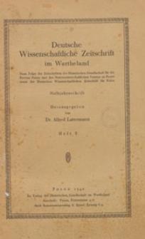 Deutsche Wissenschaftliche Zeitschrift im Wartheland : neue Folge der Zeitschriften der Historischen Gesellschaft für die Provinz Posen, 1940 H. 2