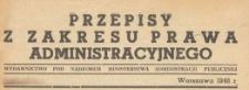 Przepisy z Zakresu Prawa Administracyjnego, 1948 z. 14 b
