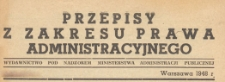 Przepisy z Zakresu Prawa Administracyjnego, 1948 z. 18