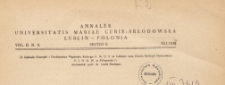 Roczniki Uniwersytetu Marii Curie-Skłodowskiej w Lublinie. Dział E, Nauki Rolnicze, 1947 nr 2