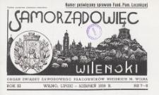 Samorządowiec Wileński : organ Związku Zawodowego Pracowników Miejskich m. Wilna, 1938.07-08 nr 7-8