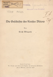 Die Geschichte des Kreises Bütow