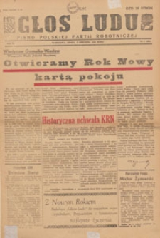 Głos Ludu : pismo codzienne Polskiej Partii Robotniczej, 1946.01.09 nr 9