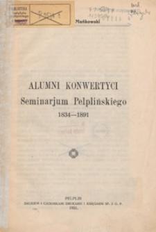 Alumni konwertyci Seminarjum Pelplińskiego 1834-1891