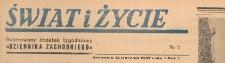 Świat i życie. Ilustrowany dodatek tygodniowy Dziennika Zachodniego, 1947.01.12 nr 2