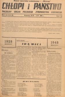 Chłopi i Państwo : tygodnik społeczno-polityczny, 1948.04.11 nr 15