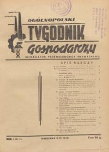 Ogólnopolski Tygodnik Gospodarczy : informator przedsiębiorcy prywatnego, 1949.06.05 nr 11