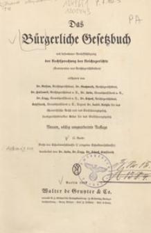 Das Bürgerliche Gesetzbuch mit besonderer Berücksichtigung der Rechtsprechung des Reichsgerichts : (Kommentar von Reichsgerichtsräten). Bd. 2, Recht der Schuldverhältnisse II (einzelne Schuldverhältnisse)