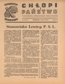 Chłopi i Państwo : tygodnik społeczno-polityczny, 1947.05.04 nr 10