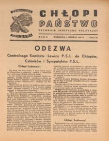 Chłopi i Państwo : tygodnik społeczno-polityczny, 1947.06.01 nr 14