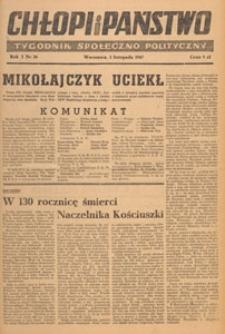 Chłopi i Państwo : tygodnik społeczno-polityczny, 1947.11.02 nr 36