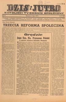 Dziś i Jutro : katolicki tygodnik społeczny, 1947.07.06 nr 27