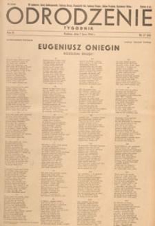 Odrodzenie : tygodnik, 1946.07.07 nr 27