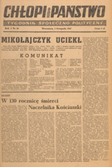 Chłopi i Państwo : tygodnik społeczno-polityczny, 1947.11.30 nr 40