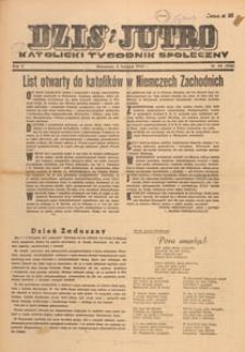 Dziś i Jutro : katolicki tygodnik społeczny, 1949.11.13 nr 45