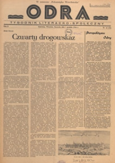 Odra : pismo literacko-społeczny, 1946.12.15 nr 44