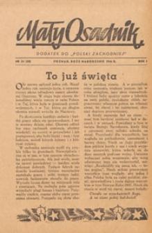 Mały Osadnik. Dodatek do Polski Zachodniej, 1946.12 nr 34