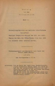 Danzig vor dem Völkerbund, 1925 Bd. 2