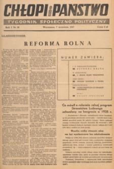 Chłopi i Państwo : tygodnik społeczno-polityczny, 1947.09.21 nr 30
