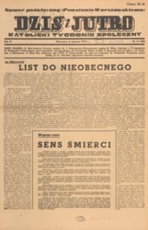 Dziś i Jutro : katolicki tygodnik społeczny, 1947.08.17 nr 33