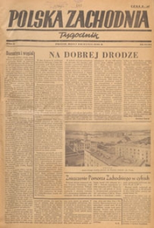 Polska Zachodnia : tygodnik : organ P.Z.Z., 1946.04.21-28 nr 16-17