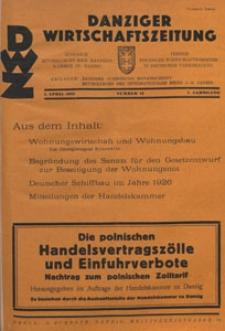 Danziger Wirtschaftszeitung, 1927.04.01 nr 13