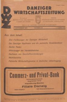 Danziger Wirtschaftszeitung, 1927.09.09 nr 36