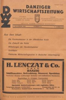 Danziger Wirtschaftszeitung, 1927.11.11 nr 45